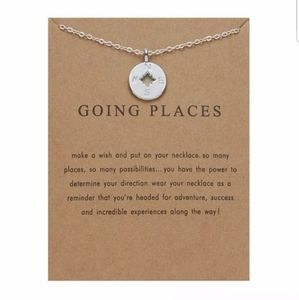 Jewelry - Going Places Compass silver make a wish necklace